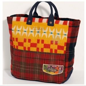 NWT   Free People Jojo Flannel Tote Bag